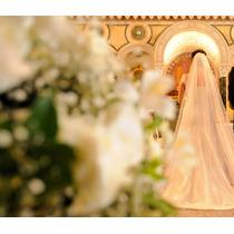 Lindo Vestido De Noiva, Todo De Renda! Com Véu E Com Saiote.