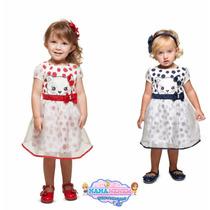 Vestido Infantil Turma Da Malha - Linha Luxo - Lançamento