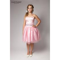 Vestido De Noiva Curto Casamento Cívil Ou Debutante Rosa