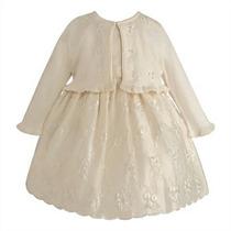 Vestido De Honra Ou Batizado 2 Anos -24 Meses Cor Creme