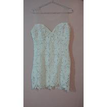 Vestido Rendado Bordado C/tule Branco