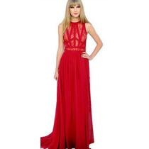 Vestido Longo Busto Em Renda Importado Moda Taylor Swift