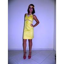 Vestido De Festa/casamento Amarelo Curto Com Tule-p/entrega