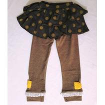 Calça Legging Com Saia Tutu Menina Infantil Promoção