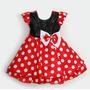 Vestido Infantil Bebe Festa Lindo Minnie Miney