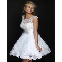 Vestido De Noiva Curto Para Civil , Debutante Lindo E Barato
