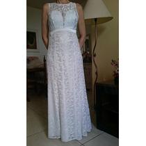 Vestido De Noiva Rendado -manequins 42 A 48 - Envio Imediato