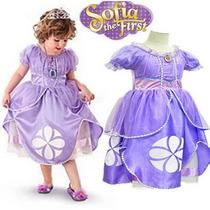 Vestido Princesa Sofia Disney Importado Alta Qualidade