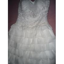 Vestido De Noiva Curto, Casamento Civil E Baile