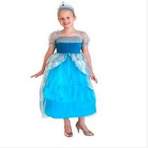 Fantasia Infantil Princesa Cinderela Linda Frete Grátis