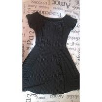 Vestido Poá De Bolinhas Preto - Novo - Tamanhos P, M E G