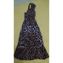Vestido Animal Print Aquamar Tam:m