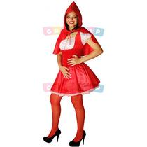 Fantasia Da Chapeuzinho Vermelho Adulto Roupa Camponesa Luxo