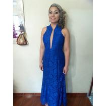 Vestido De Festa Azul Royal Madrinha E Formatura
