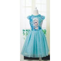Vestido Fantasia Princesa Frozen Elsa Pronta Entrega