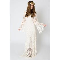 Casamento No Campo: Vestido De Noiva Renda Guipir Sob Medida