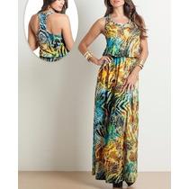 Vestido Longo Estampado Florido Casual Verão