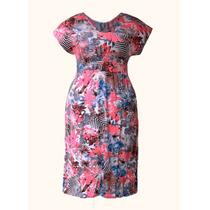 Vestido Feminino Plus Size Floral Primavera Verão