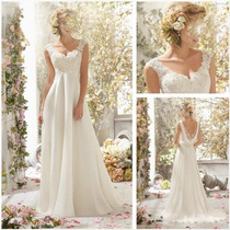 Vestido De Noiva Simples Importado -sob-encomenda