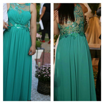 Vestido Festa Verde Tiffany Azul