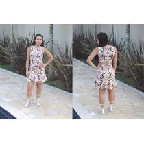 Vestido Curto Rodado !!! Fashion Dubay Elegante Lindo