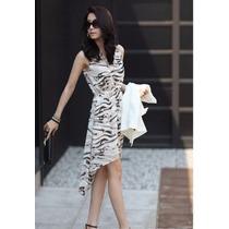 Vestido Chiffon Moda Onça, Zebra, Oncinha - Promoção