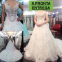 Vestido Importado De Noiva Princesa Top-luxo Pronta Entrega
