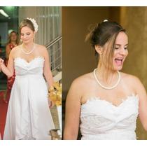 Vestido De Noiva Tomara Que Caia Semi Novo Frete Grátis!!