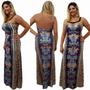 Vestido Longo Com Pedraria E Tule Six One - Ref 6140029