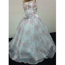 Vestido Infantil Dama/princesa/formatura Florido