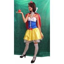 Princesa Da Disney - Fantasia Branca De Neve - Adulto