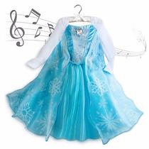 Vestido Fantasia Elsa Frozen Toca Musica Disney Store 13anos