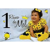 Vestido Amarelo Bolas Pretas Abelinha