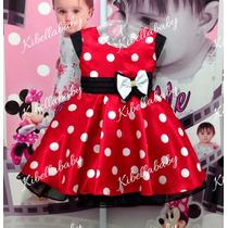 Vestido Infantil Minnie Tam: 1-2-3