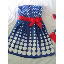 Vestido Mãe Da Galinha Pintadinha Azul