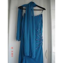 Vestido Longo Azul Claro - Boutique Antonelze