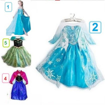 Vestido Fantasia Luxo Frozen Elza Princesa Pronta Entrega