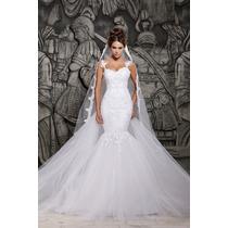 Vestido Noiva Importado Sob Encomenda Cauda Removível Sereia