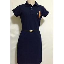 Vestido Feminino Gola Polo P, M, G, Gg A Pronta Entrega