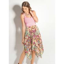 Vestido Midi Rosê Verão Festas Casuais Elegante Maravilhoso