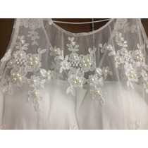 Vestido Noiva Curto Bordado C/ Perolas , Debutante , Civil