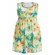 Vestido Florido Roupa Plus Size ( Tamanhos G Gg Xxg Xlg )