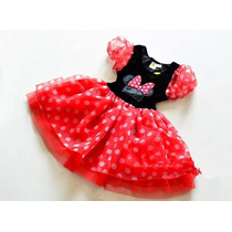 Vestido Fantasia Minnie Mouse Infantil - A Pronta Entrega