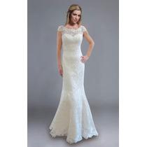 Luxo: Vestido De Noiva Sereia Em Renda Guipir Sob Medida