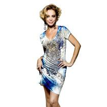 Vestido Com Detalhes Em Pedras Estilo Ed Hardy - Ref 2001