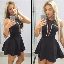 Vestido Rodado Com Tule Decote E Detalhes Em Perolas(fake)