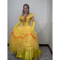 Fantasia Princesa Bela, Do Clássico A Bela E A Fera - Adulto