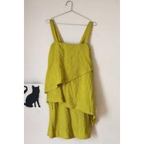 Vestido C/ Camadas Verde P/ Festa Collins N°40
