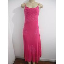 Vestido Festa Rosa Pink Tam M Lucia Figueiredo Ótimo Estado