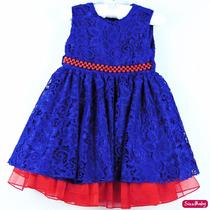 Vestido Festa Infantil Galinha Pintadinha Renda Com Tiara